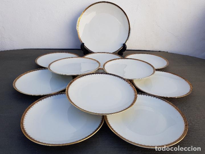 JUEGO POSTRE EN PORCELANA DE BAVARIA SELLADO (Antigüedades - Porcelanas y Cerámicas - Otras)