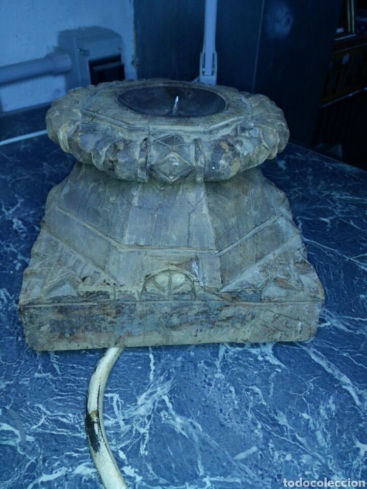 ANTIGUO CAPITEL DE MADERA (Antigüedades - Varios)