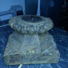 Antigüedades: ANTIGUO CAPITEL DE MADERA. Lote 130094367