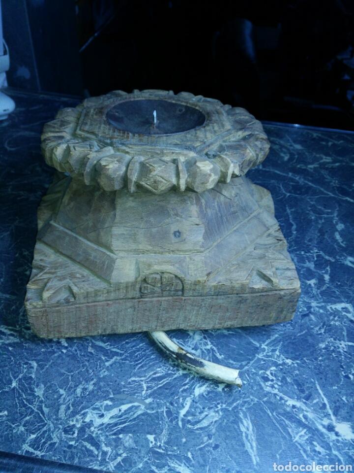 Antigüedades: Antiguo capitel de madera - Foto 2 - 130094367
