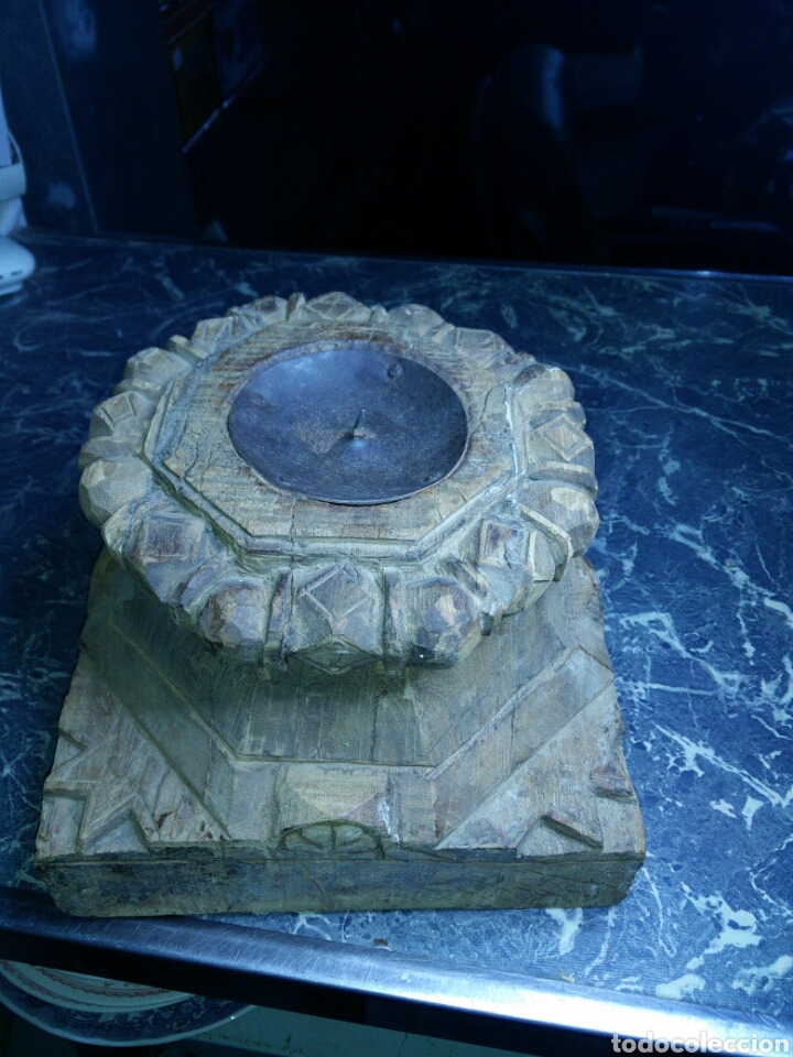 Antigüedades: Antiguo capitel de madera - Foto 3 - 130094367