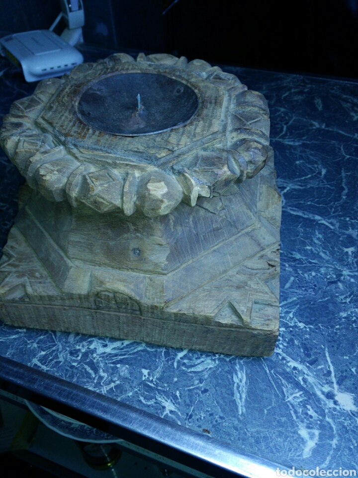 Antigüedades: Antiguo capitel de madera - Foto 4 - 130094367