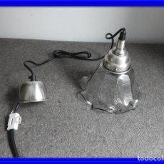 Antigüedades: LAMPARA DE CRISTAL EN FORMA DE FLOR. Lote 140139182