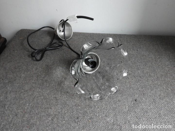 Antigüedades: LAMPARA DE CRISTAL EN FORMA DE FLOR - Foto 3 - 140139182
