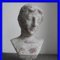 Antigüedades: BUSTO DE ROMANA EN TERRACOTA. Lote 140140998