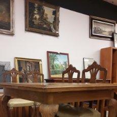 Antiquitäten - 13/1 Antigua mesa Madera extensible con patas talladas - 140145881