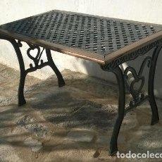 Antigüedades: MESA DE MADERA Y FORJA. Lote 140146278