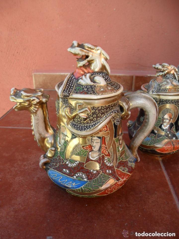 JUEGO DE CAFÉ DE PORCELANA SATSUMA INCOMPLETO ANTIGUO (Antigüedades - Porcelana y Cerámica - Japón)