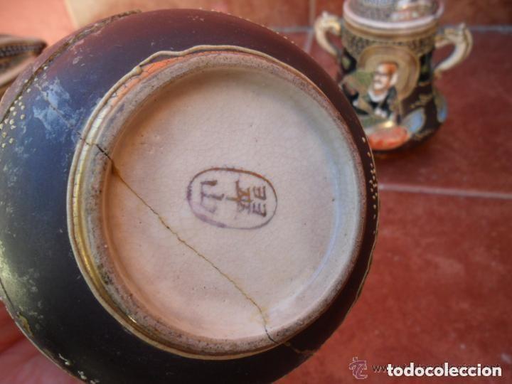 Antigüedades: JUEGO DE CAFÉ DE PORCELANA SATSUMA INCOMPLETO ANTIGUO - Foto 11 - 140159702