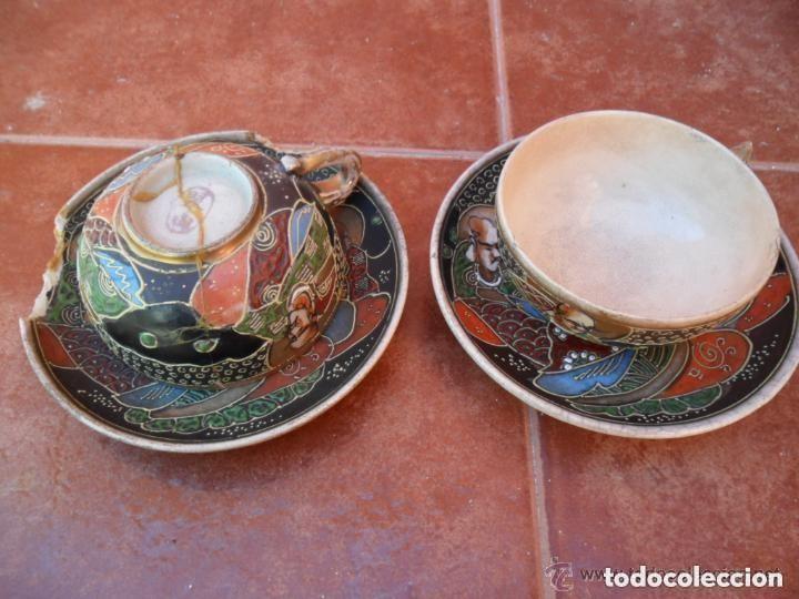Antigüedades: JUEGO DE CAFÉ DE PORCELANA SATSUMA INCOMPLETO ANTIGUO - Foto 13 - 140159702