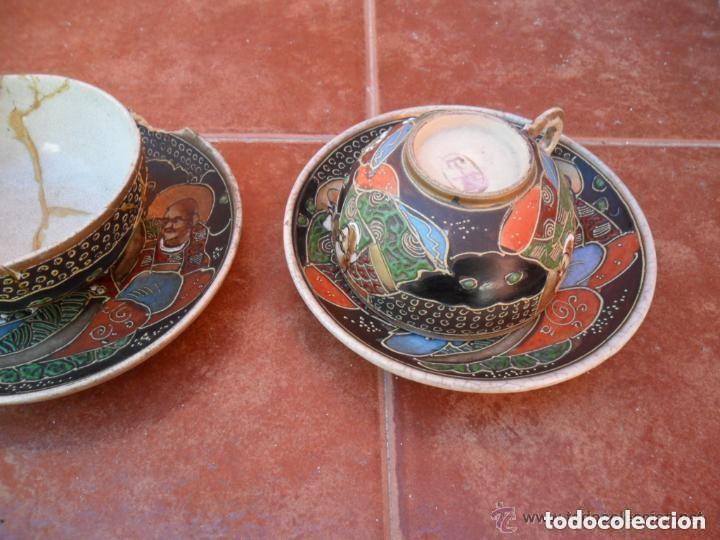 Antigüedades: JUEGO DE CAFÉ DE PORCELANA SATSUMA INCOMPLETO ANTIGUO - Foto 15 - 140159702
