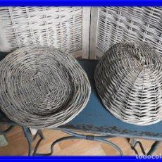 Antigüedades: BANDEJA MIMBRE CON TAPA PARA FUENTE. Lote 140167466