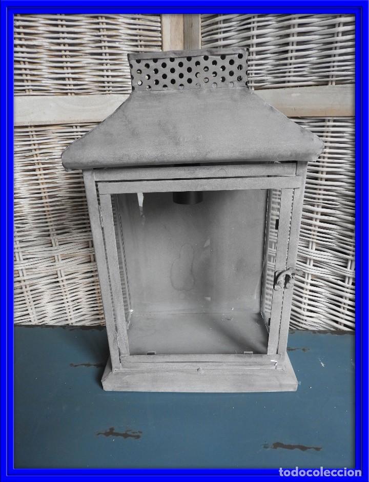 FAROL O APLIQUE METALICO DE PARED (Antigüedades - Iluminación - Apliques Antiguos)