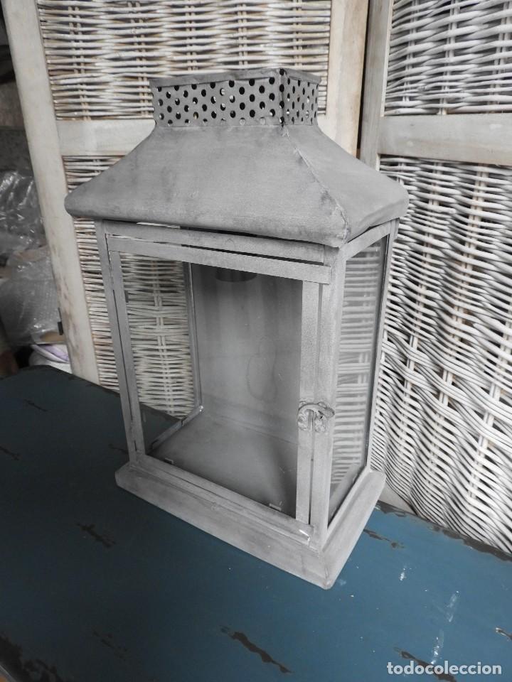 Antigüedades: FAROL O APLIQUE METALICO DE PARED - Foto 2 - 140167802