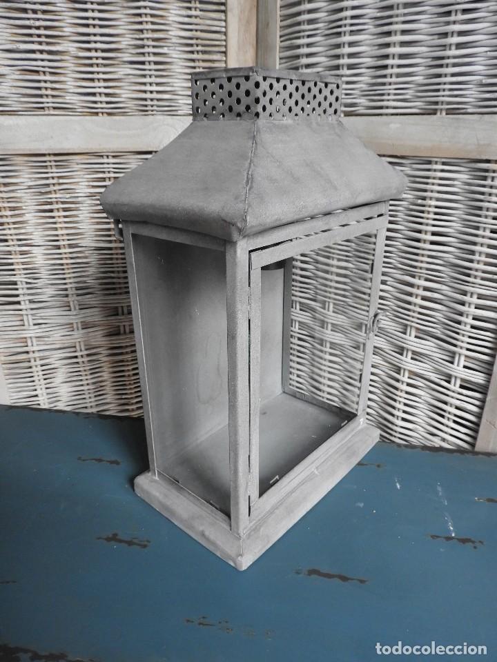 Antigüedades: FAROL O APLIQUE METALICO DE PARED - Foto 3 - 140167802