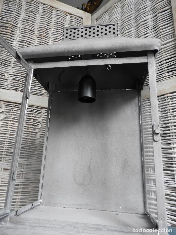 Antigüedades: FAROL O APLIQUE METALICO DE PARED - Foto 4 - 140167802