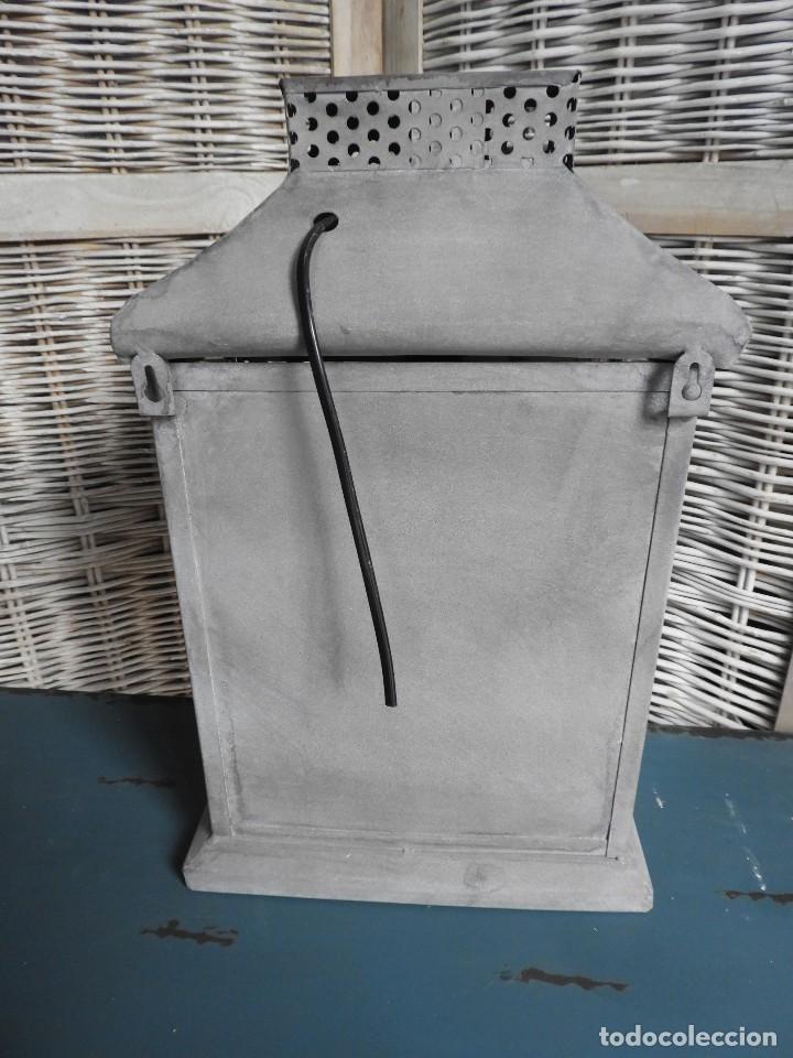 Antigüedades: FAROL O APLIQUE METALICO DE PARED - Foto 5 - 140167802