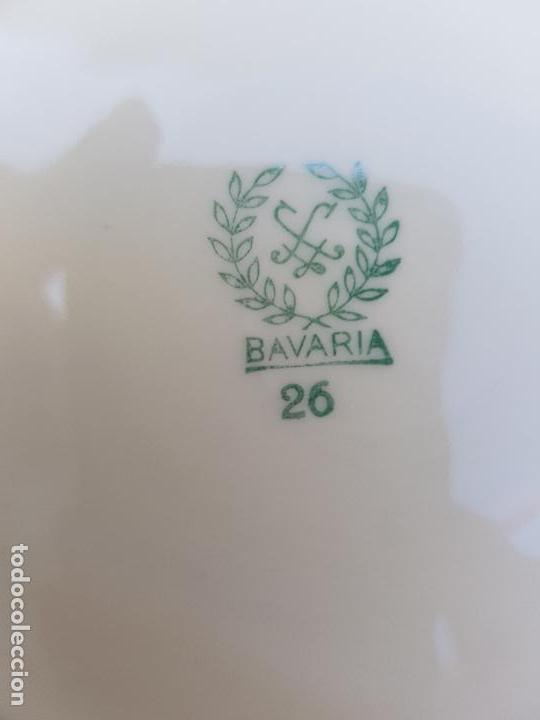 Antigüedades: JUEGO 10 PLATOS HONDOS EN PORCELANA DE BAVARIA SELLADO - Foto 8 - 140170478