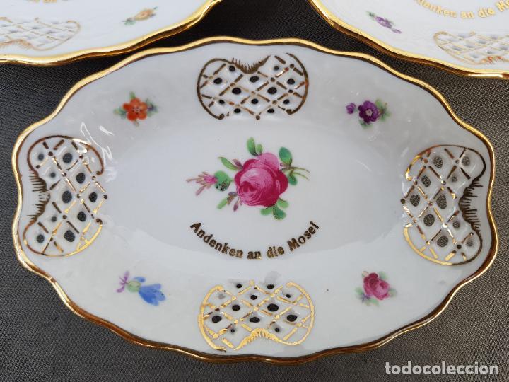 Antigüedades: JUEGO POSTRE EN PORCELANA DE BAVARIA SELLADO - Foto 2 - 140172546