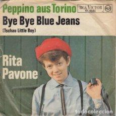 Discos de vinilo: RITA PAVONE - PEPPINO AUS TORINO - SINGLE DE VINILO EDICION ALEMANA CANTADO EN ALEMAN. Lote 140174282
