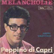 Discos de vinilo: PEPPINO DI CAPRI - MEANCHOLIE - SINGLE DE VINILO EDICION ALEMANA CANTADO EN ALEMAN. Lote 140174470