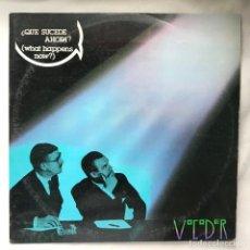 Discos de vinilo: MX_VOCODER – ¿QUE SUCEDE AHORA? = WHAT HAPPENS NOW?. Lote 140182198