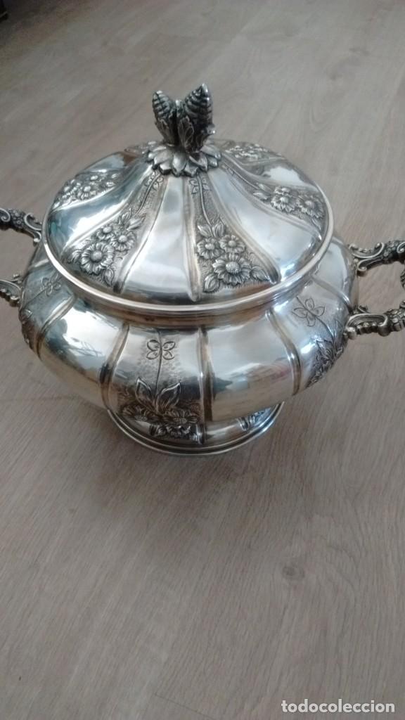 Antigüedades: Sopera de plata - Foto 3 - 140200062
