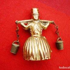 Antigüedades: CAMPANA HOLANDESA EN BRONCE NUMERADA CON BAJADOS CALDERO EXTERIORES. Lote 140205074