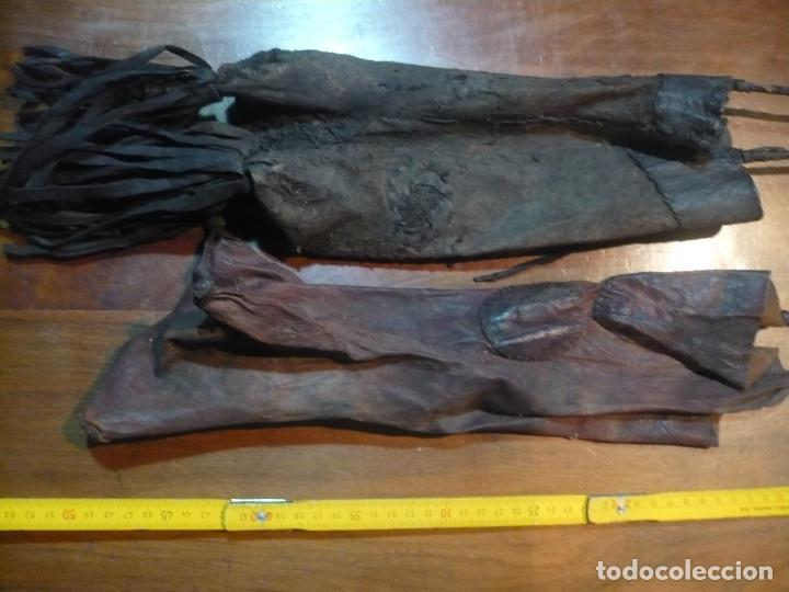 Antigüedades: Bolsas de pastor étnicas, Marruecos y centro de africa, de piel de roedor, 30 cm largo - Foto 2 - 140206986