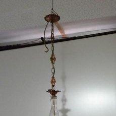 Antigüedades: ANTIGUA LAMPARA PARA COLGAR DE 5 BRAZOS. Lote 140207646