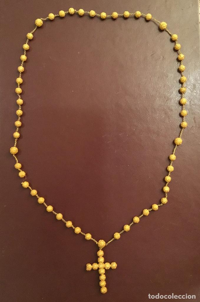 Antigüedades: Antiguo rosario de oro, filigrana, finales del XIX Filipinas - Foto 2 - 140223698