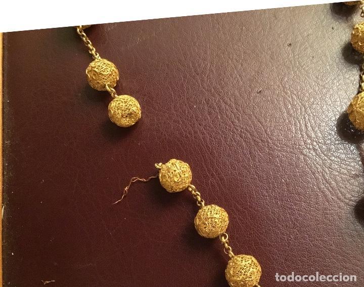 Antigüedades: Antiguo rosario de oro, filigrana, finales del XIX Filipinas - Foto 7 - 140223698