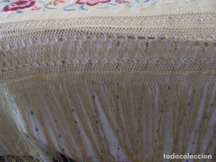 Antigüedades: MANTON MANILA ANTIGUO INDUMENTARIA - Foto 2 - 140224186