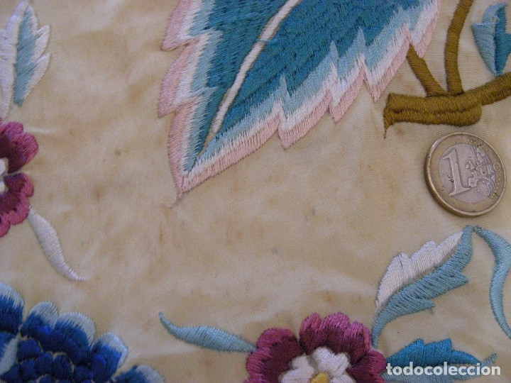 Antigüedades: MANTON MANILA ANTIGUO INDUMENTARIA - Foto 9 - 140224186