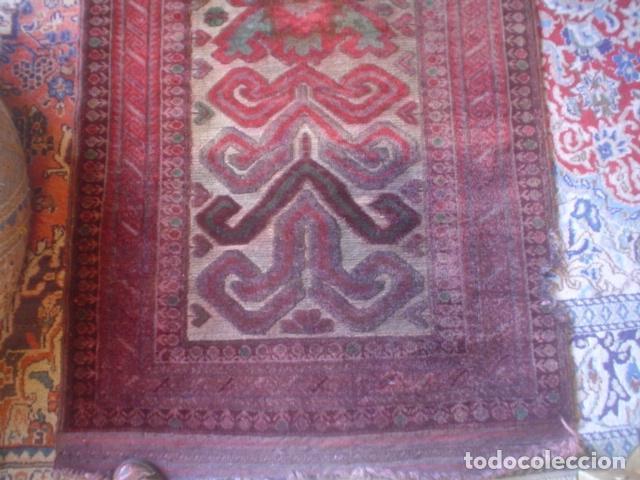 Antigüedades: muy antigua alfombra hecha a mano xix tipo kilim - Foto 2 - 140224294