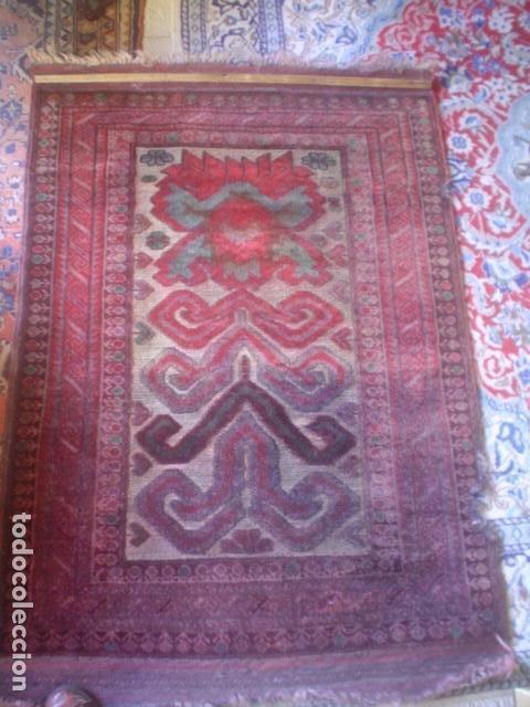 Antigüedades: muy antigua alfombra hecha a mano xix tipo kilim - Foto 3 - 140224294