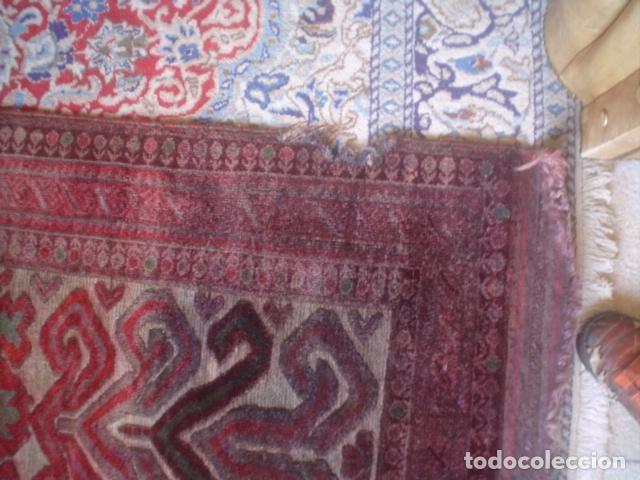 Antigüedades: muy antigua alfombra hecha a mano xix tipo kilim - Foto 4 - 140224294