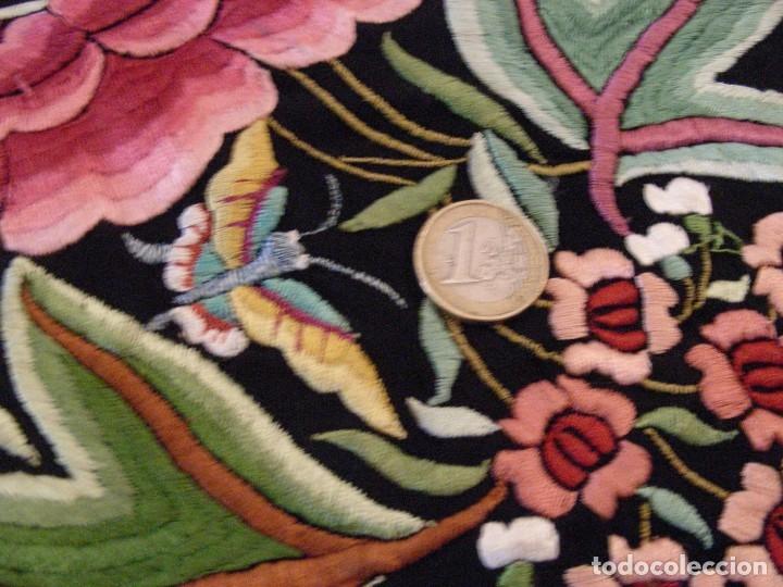 Antigüedades: MANTON DE MANILA,ANTIGUO INDUMENTARIA - Foto 4 - 140227394