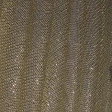 Antigüedades: 170 X 140 PIEZA DE TELA BRILLO DORADO PARA TOCADO DE VIRGEN TAMAÑO NATURAL SEMANA SANTA MANTO SAYA . Lote 140231394