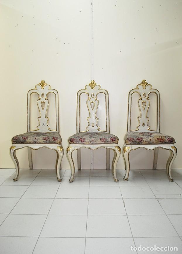 LOTE DE SILLAS ANTIGUAS DE MADERA (Antigüedades - Muebles Antiguos - Sillas Antiguas)