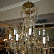 Antigüedades: SOBERBIA LAMPARA ISABELINA. Lote 140283250