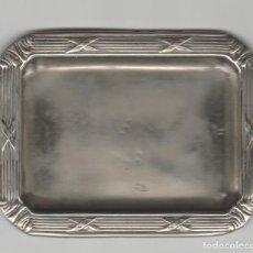Antigüedades: ANTIGUA BANDEJA PLAEADA-MENESES. Lote 140285166