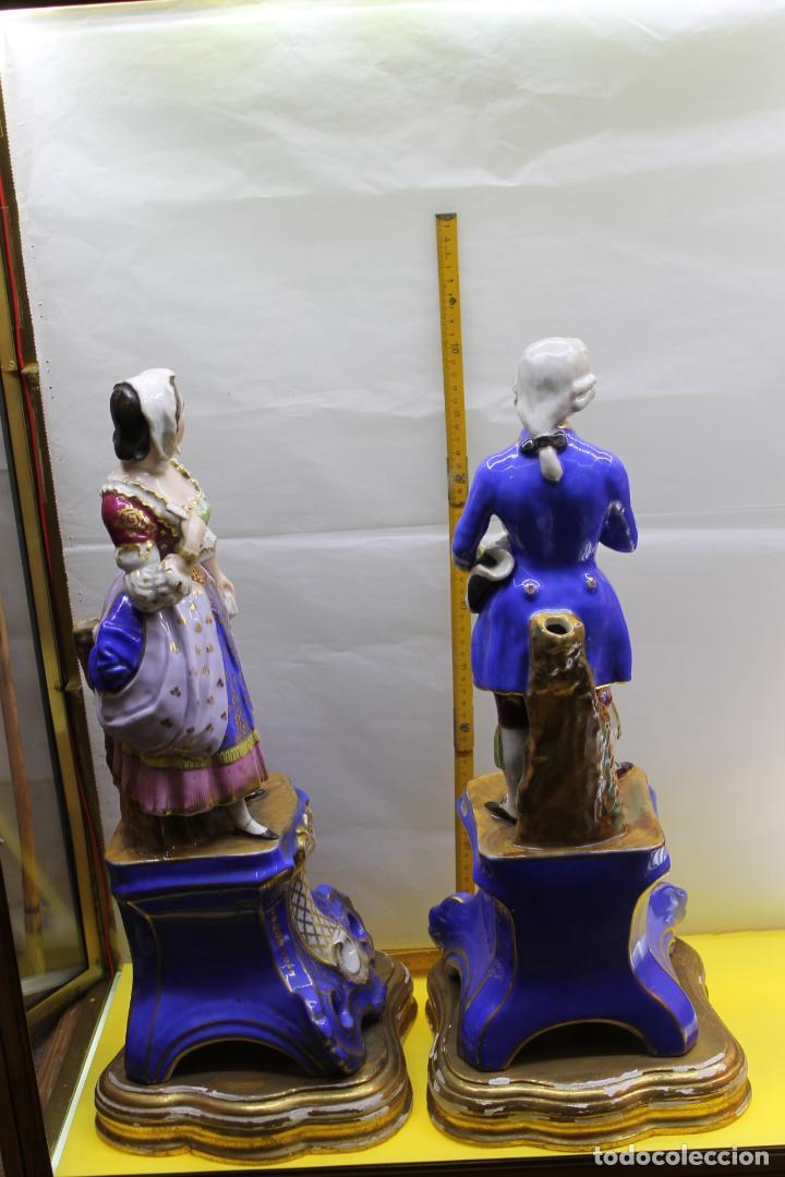Antigüedades: PORCELANA VIEJO PARIS PAREJA - Foto 3 - 140288106