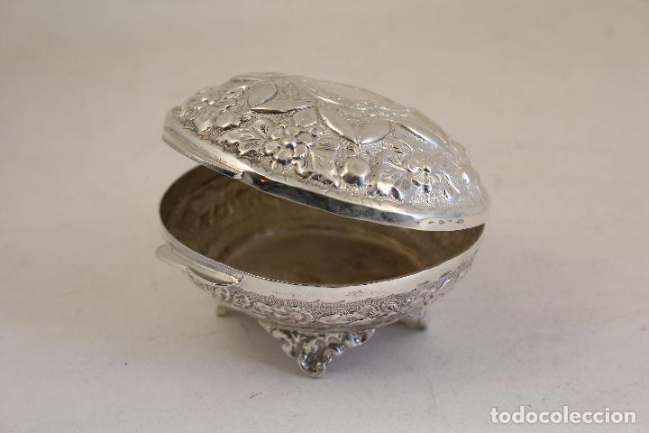 Antigüedades: caja joyero en plata maciza de ley 925milesimas - Foto 3 - 152256212