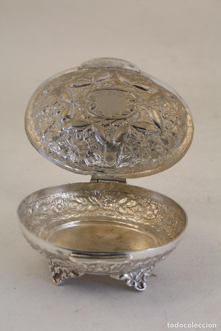 Antigüedades: caja joyero en plata maciza de ley 925milesimas - Foto 4 - 152256212
