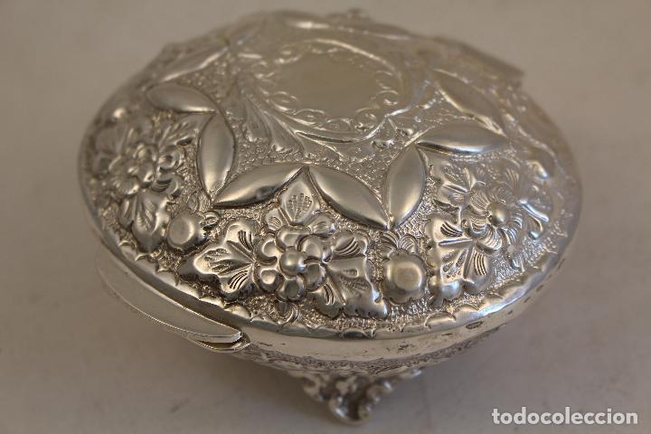 Antigüedades: caja joyero en plata maciza de ley 925milesimas - Foto 5 - 152256212