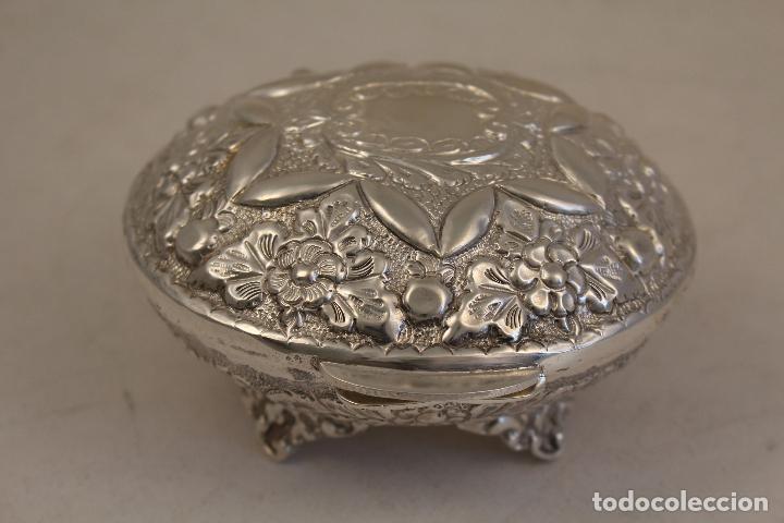 Antigüedades: caja joyero en plata maciza de ley 925milesimas - Foto 6 - 152256212