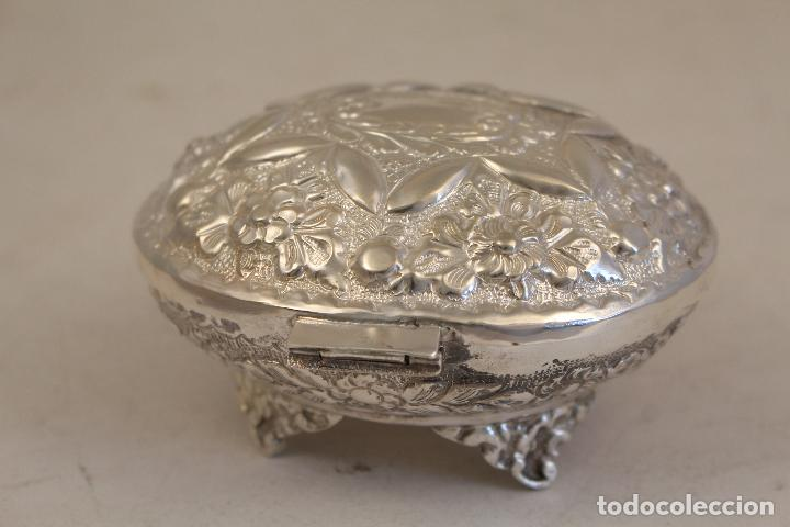 Antigüedades: caja joyero en plata maciza de ley 925milesimas - Foto 7 - 152256212