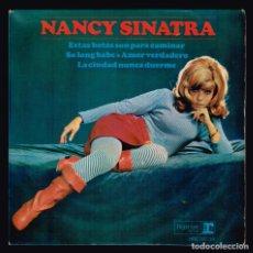 Discos de vinilo: NANCY SINATRA. ESTAS BOTAS SON PARA CAMINAR. HRE 297-39 HISPAVOX 1965 DISCO. Lote 140296710