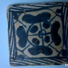 Antigüedades: ,AZULEJO ANTIGUO.MEDIDA 8,5X8,5. Lote 140299822